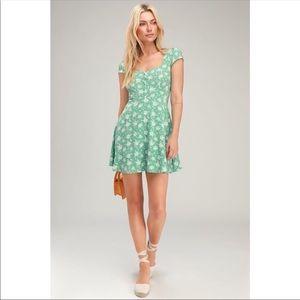 Lulus Passion Project Sage Green Floral Mini Dress